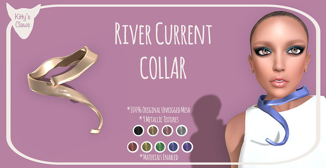 Kitty's Claws: River Current Collar