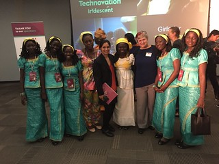 Tara Chklovski, Katy Dickinson, Dorothée Danedjo and Cameroon Team, Technovation World Pitch Summit 2016