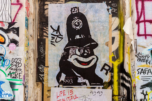 A.CE London, Street Art Pasteups in London. Photo ©Hookedblog