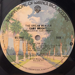 GARY WRIGHT:THE DREAM WEAVER(LABEL SIDE-A)