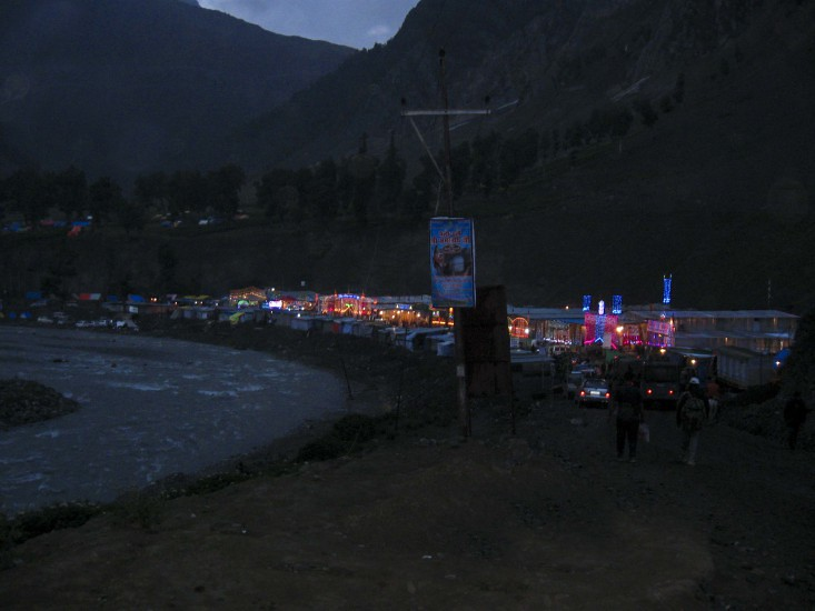 Baltal at Night during Amarnath Yatra 2016, Jammu and Kashmir, India