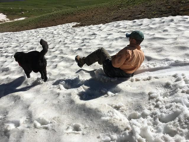 Ryan sledding
