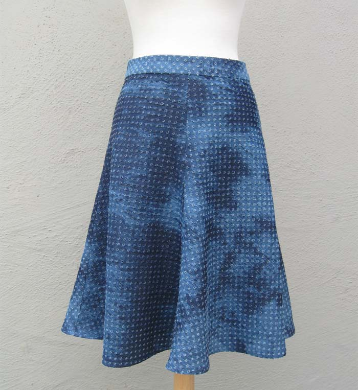 skirt denim eyelet front
