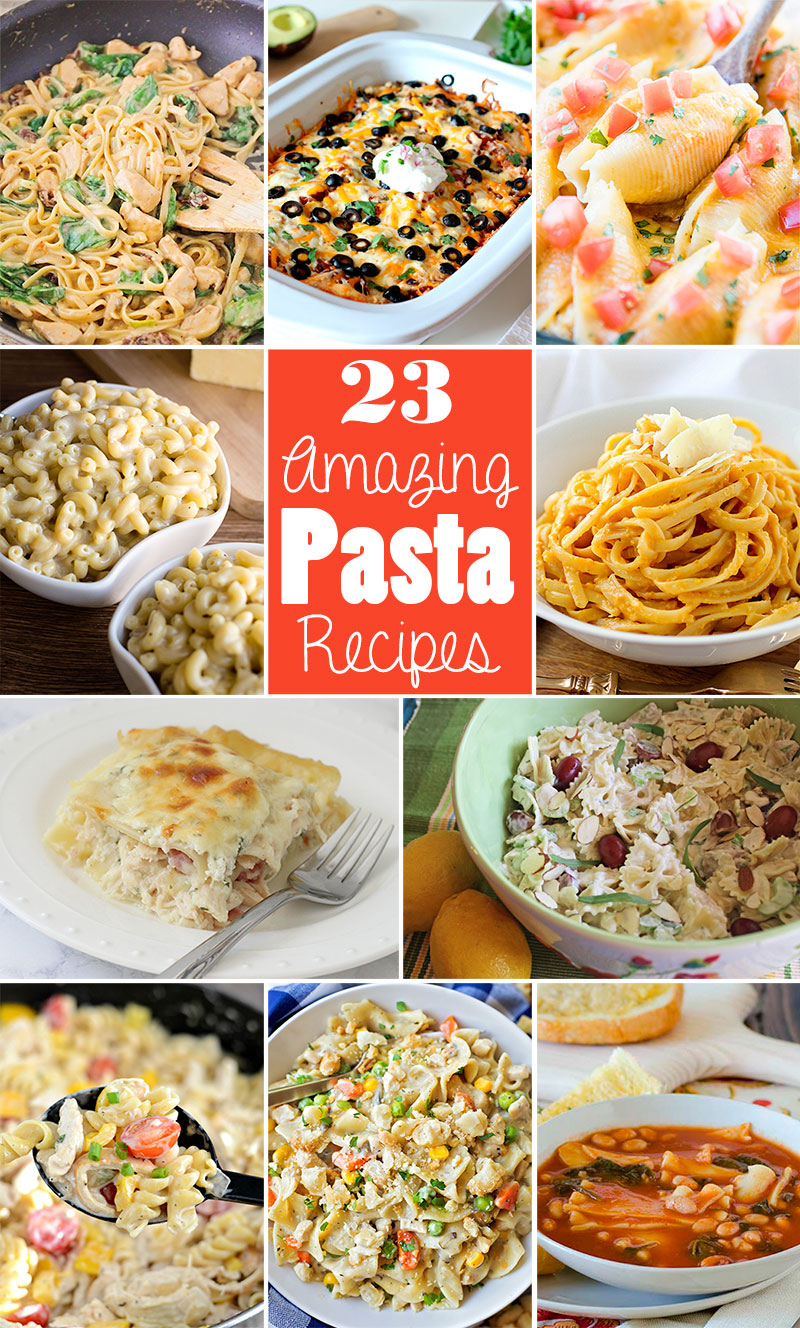 twenty three pasta recipes round up