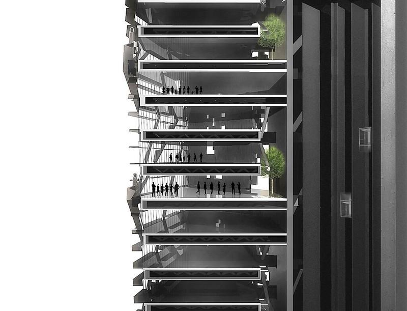 План небоскреба Torre Reforma в Мехико. Проект LBR + A