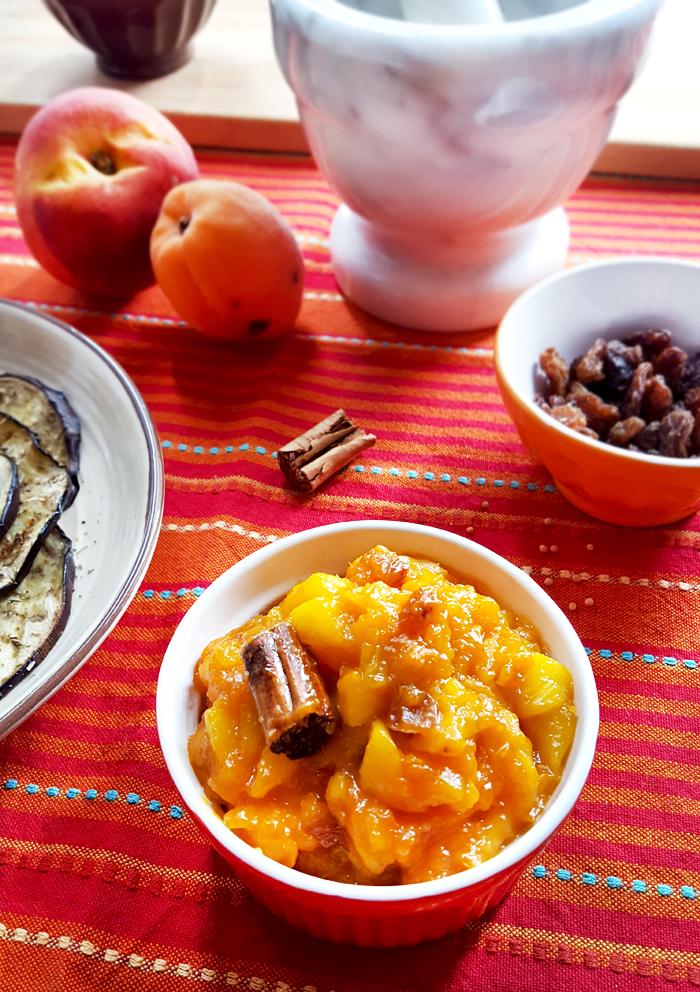 Chutney speziato di Pesce e Albicocche