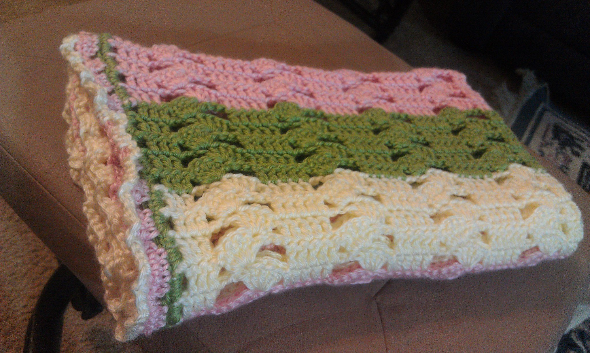 Light and Lacy Baby Blanket Crochet Pattern