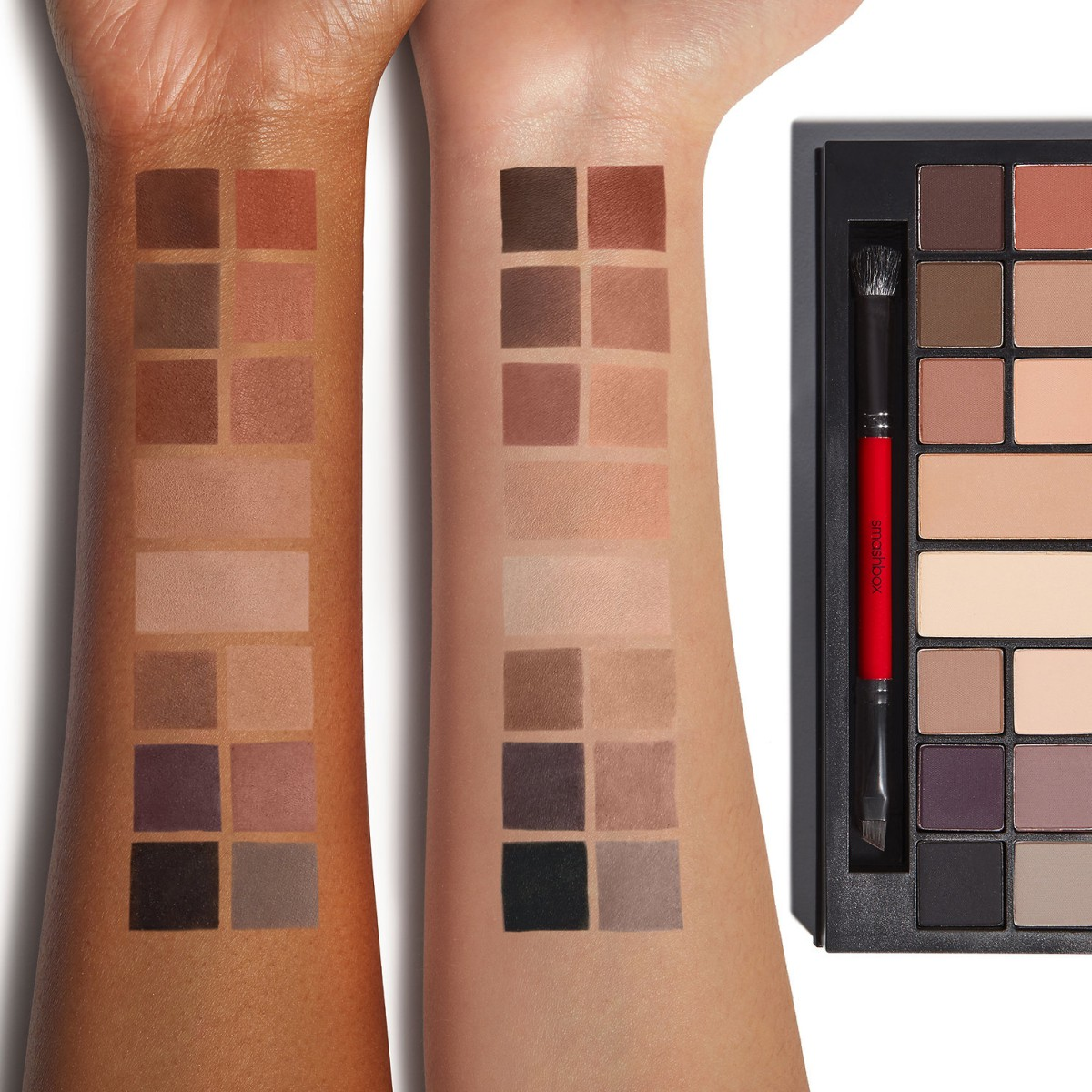 Smashbox Matte Exposure Palette Swatches