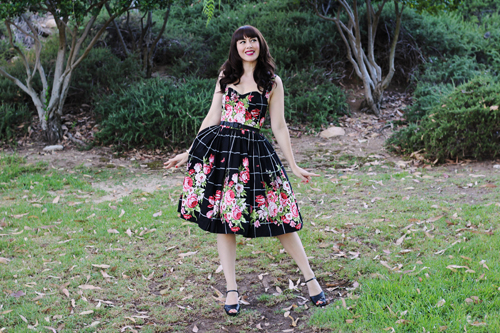 Bernie Dexter Belle Dress in Floral Bouquet Modcloth Hide in the Hydrangeas