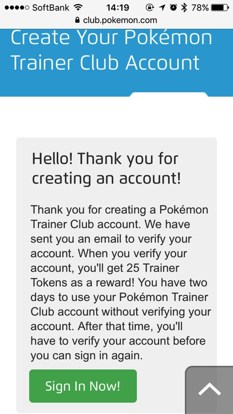 How to create pokemon trainer club account 00010
