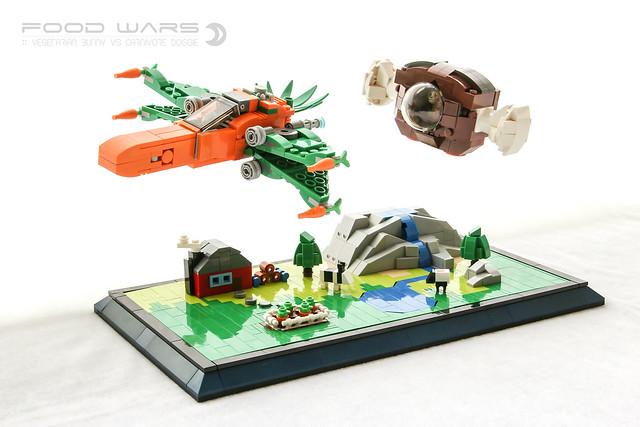 Food Wars et X-Wing carotte