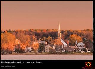 Ste-Angèle-de-Laval Le coeur du village.