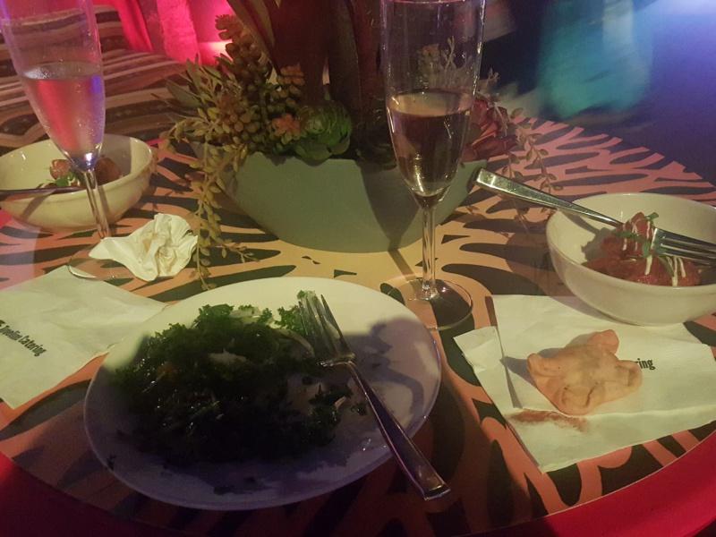 Cirque du Soleil VIP food