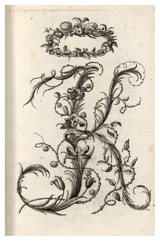 005- Letra K-Alphabet orné 1760 -BNF-Gallica