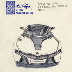 BMW Vision Efficient Dynamics. BMW-Museum. #uskmuc2016
