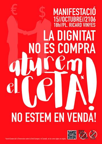 Manifestació a Lleida aturem el CETA