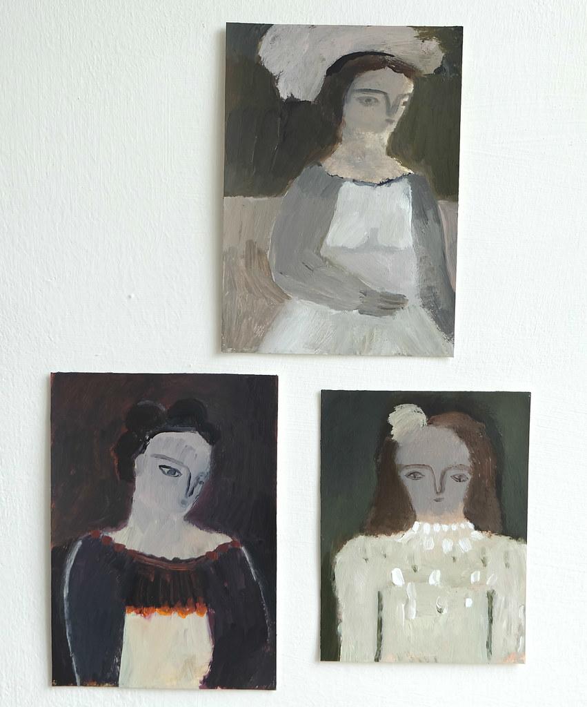 a trio of portraits
