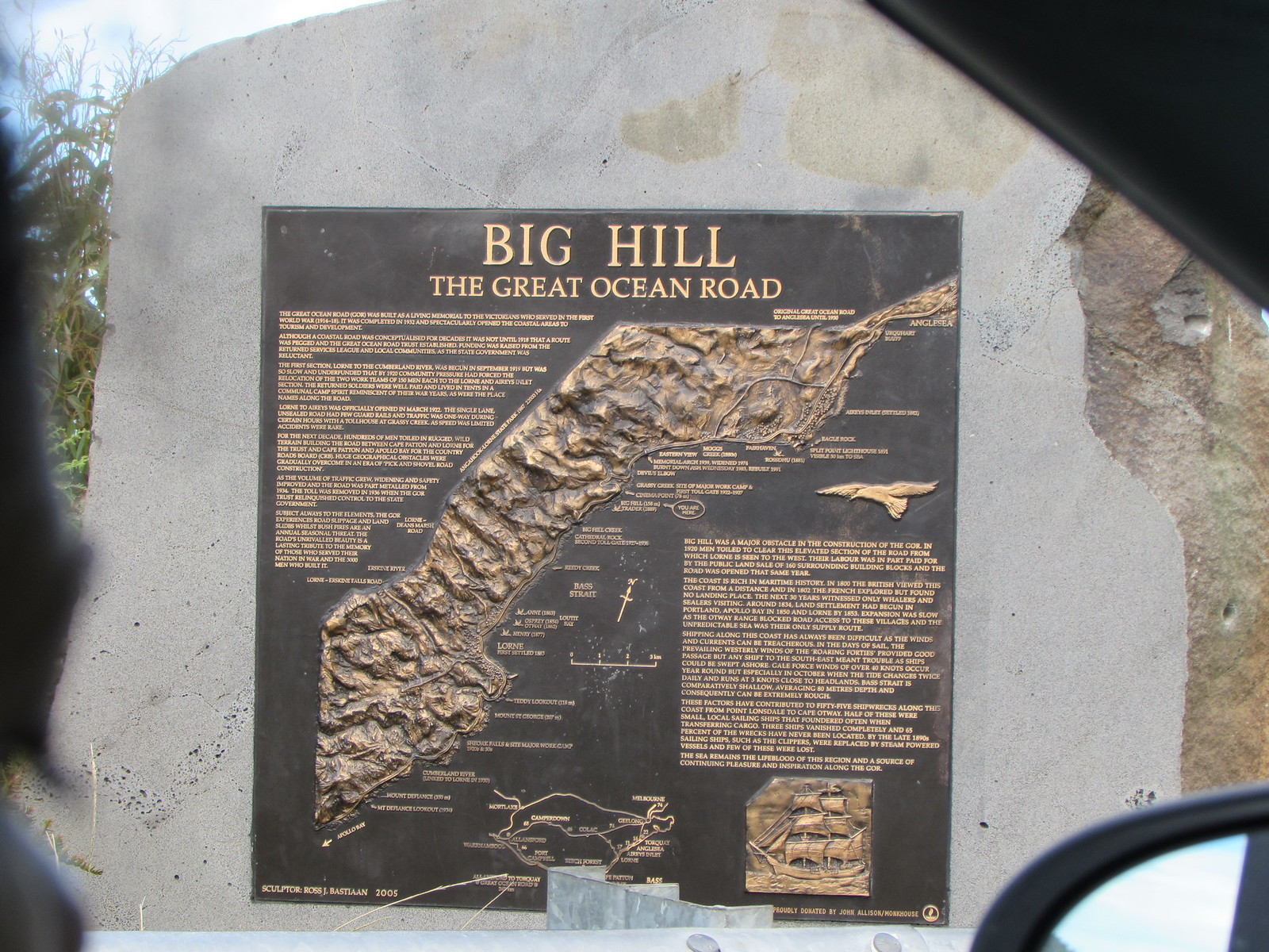 Big Hill on the map