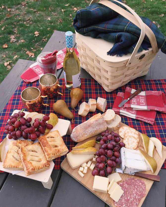 Fall picnic table cheese food ideas Castle Island Boston