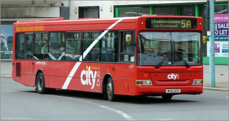 Plymouth Citybus 055 WA51ACO