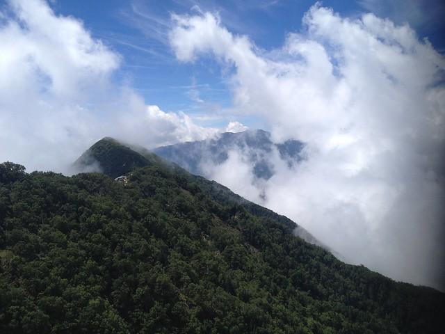 鳳凰山 地蔵岳 オベリスク上より高嶺・仙丈ヶ岳