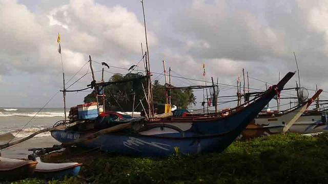 Boat In Weligama Bay