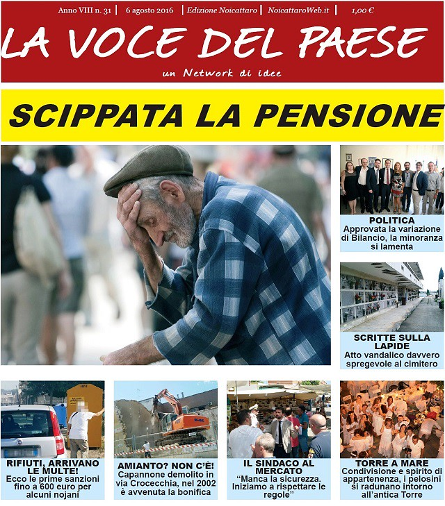 Noicattaro. Prima pagina n.31-2016 intero