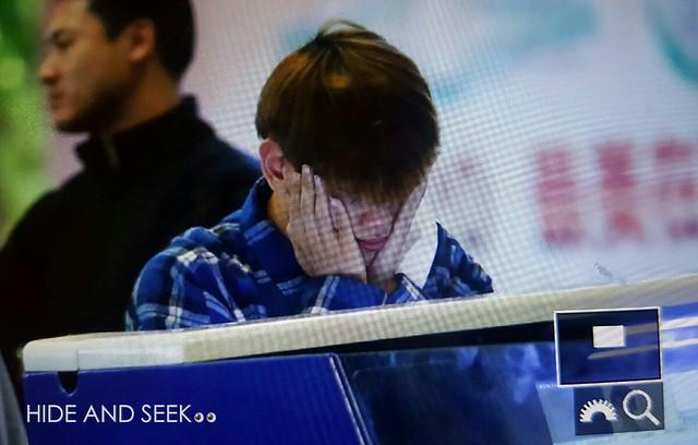 160929 EXO at Huangzhou Airport