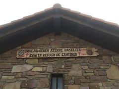 Refugio nuevo de peregrinos en el cruce donde nos adentramos al valle