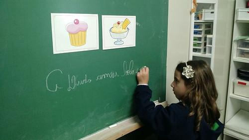 Aprendendo a escrever frases - unidade da serra