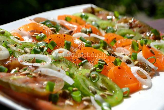 Tomates Multicolores aux Oignons Nouveaux & Graines © Ana Luthi Tous droits réservés 14