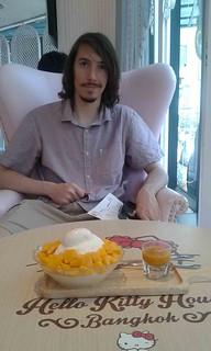 Kyle with Thai Mango dish