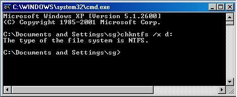 [WinXP] 開啟重覆執行 chddsk 指令-2