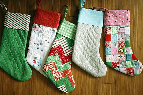Pixie Noel Patchwork Stockings