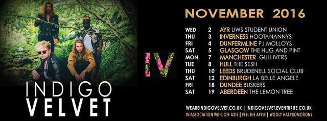 Indigo Velvet, TOUR, November 2016