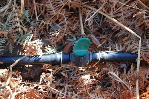Reciclaje llave de paso de tubo de goteo