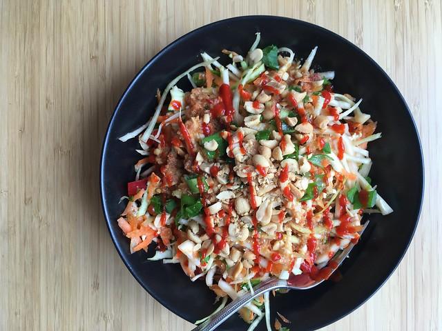 Gluten-free chopped Thai chicken salad