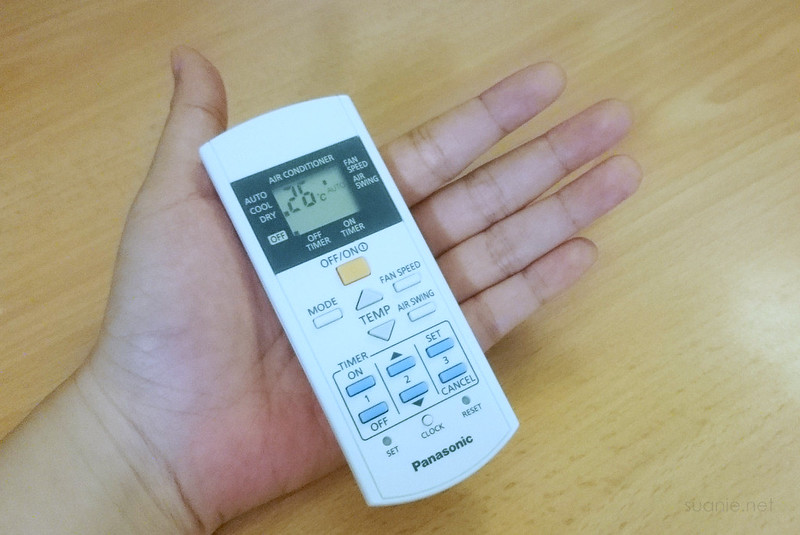 Remote control in my hand