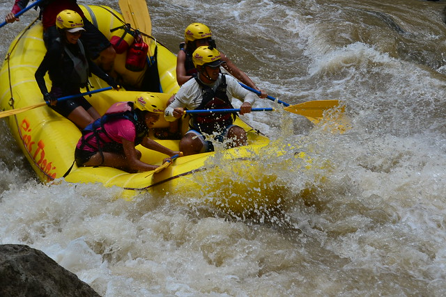Tackling a rapid on the Rio Pacuare, Costa Rica
