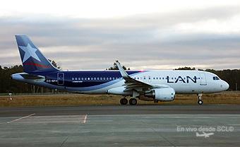 LAN A320 CC-BFH en La Araucania (Marcelo Pérez)