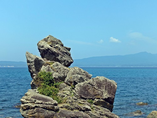 Sado Island Man Face Stone