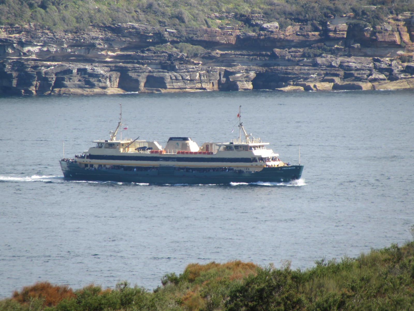 A Sydney Ferry Boat - as seen from North Head, Sydney (Manly area)
