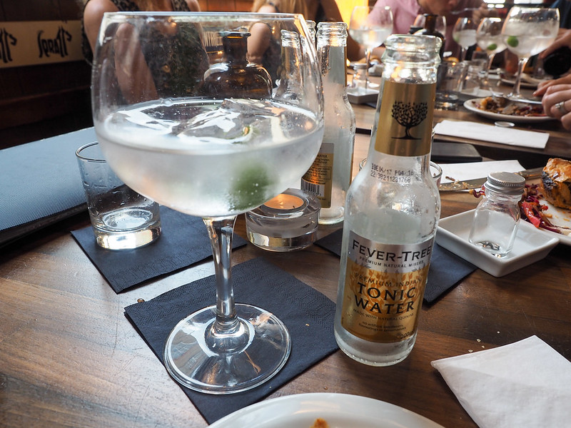 Gin and tonic at the London Gin Club