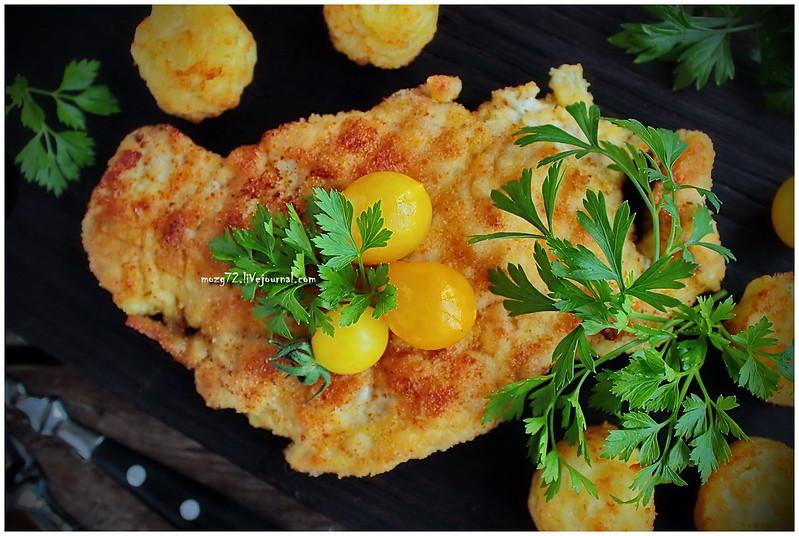...chicken schnitzel curry_