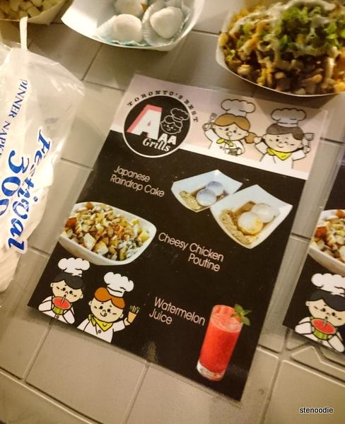 AAA Grills menu