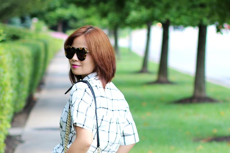 plaid-shirt-karen-walker-sunglasses