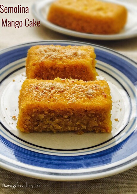 Mango Semolina Cake Recipe for Toddlers and Kids