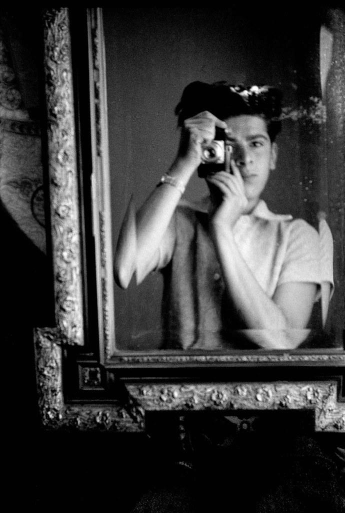 1945, Lugano, Frank Horvat, self-portrait