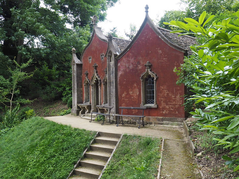 The Gothic Red House at Painswick Gardens, The Cotswolds