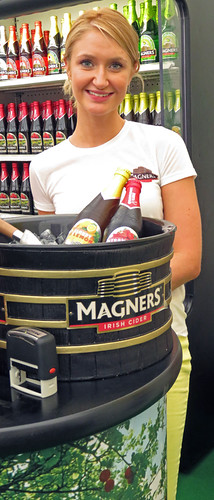 A Food Fair in Belfast Ireland with free Magners Cider and more!